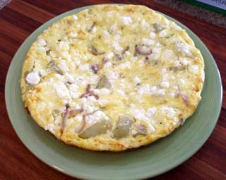 Potato, Red Onion and Feta Frittata
