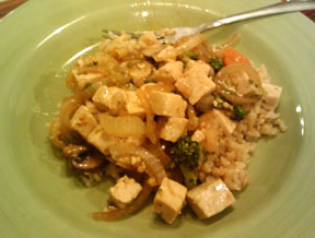 Stir-Fry Broccoli and Carrots with Tofu