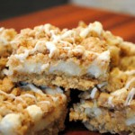 White Chip Lemon Streusel Bars