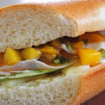 Turkey and Brie with Spicy Peach Chutney