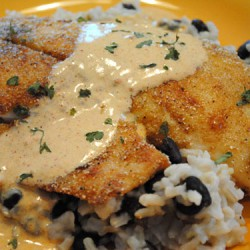 Tilapia with Chili Cream Sauce