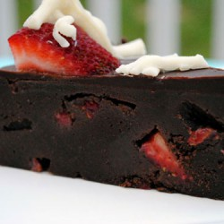 Fudge Lover's Strawberry Truffle Cake Slice