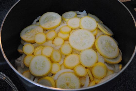 squash & onions
