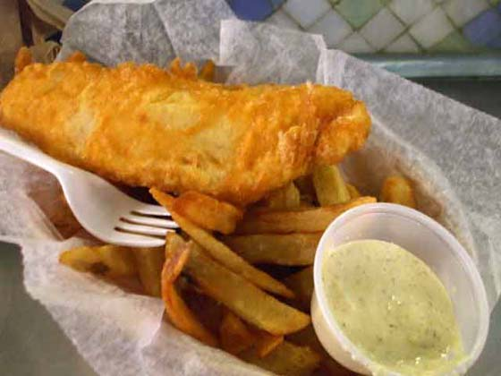A Salt and Battery fish & chips