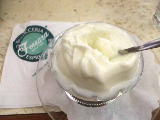 Ferrara Bakery & Cafe Key Lime Sorbet