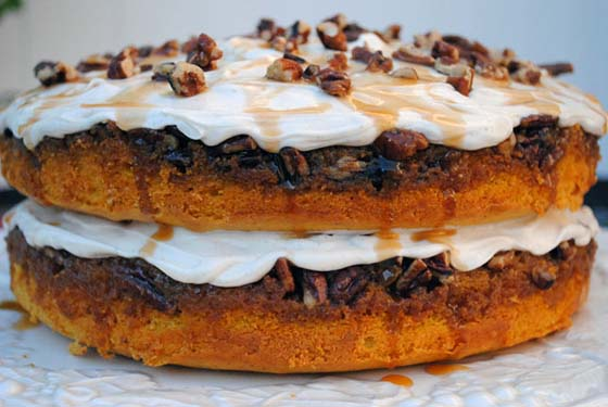 Praline Pumpkin Cake by So, How's It Taste? www.sohowsittaste.com