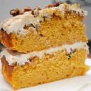 Praline Pumpkin Cake slice