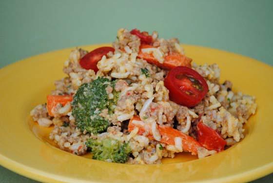 Beefy Rice Skillet