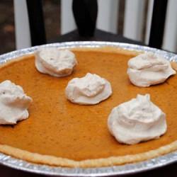 Classic Pumpkin Pie with Spiced Cream Clouds