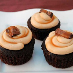 Milky Way Cupcakes with Caramel Buttercream