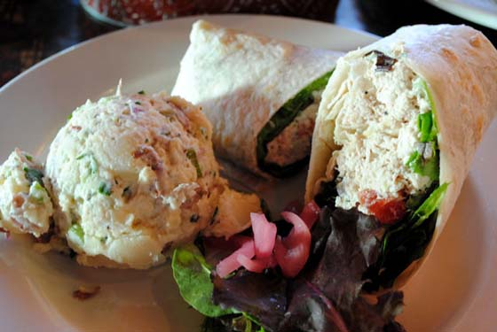 The Yellow Porch Herbed Chicken Salad Wrap
