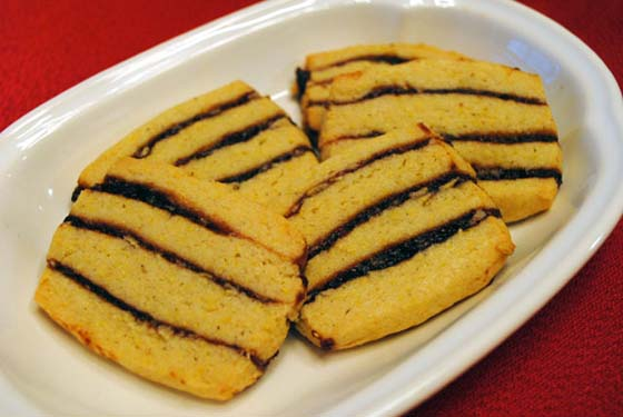 Striped Icebox Cookies