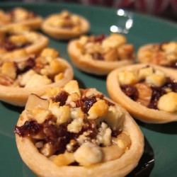 Gorgonzola, Date and Walnut Tartlets