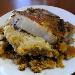 Sage & Maple Cornbread Stuffed Pork Chops