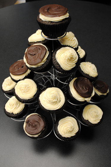 Irish Car Bomb cupcake tree