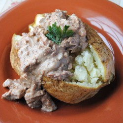 Beef Stroganoff Topped Potato