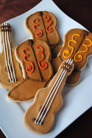 Boot and Guitar Sugar Cookies