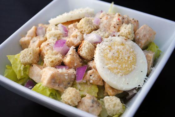 Spicy Chicken Caesar Salad