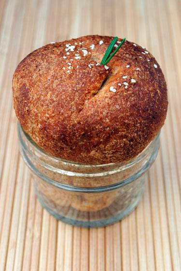 Dinner Roll Baked in a Jar