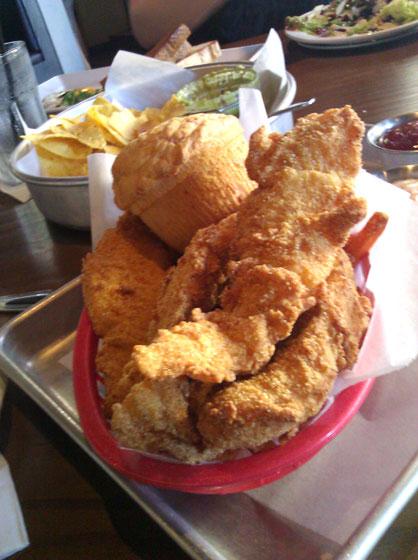 Basket of Crispy Little Fish