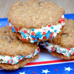 Oatmeal Ice Cream Sandwich Cookies