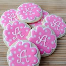 Monogrammed Sugar Cookies: A is for Aly