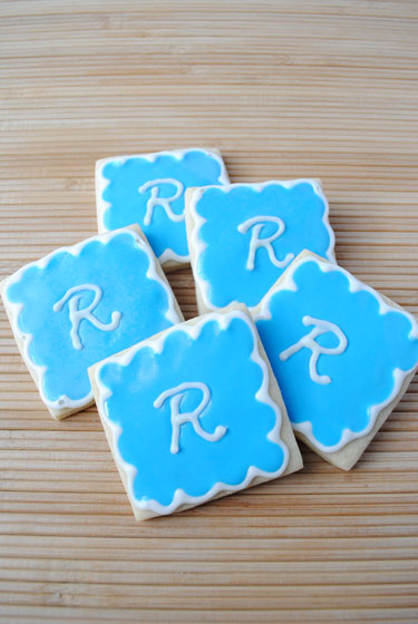 Monogrammed Sugar Cookies: R is for Rylan