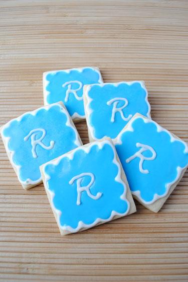 Monogrammed Sugar Cookies: R is for Rylan