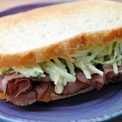 Roast Beef Sandwich with Horseradish Slaw