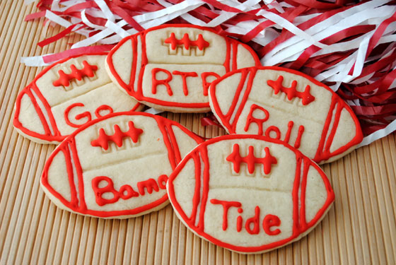 Bama Football Cookies