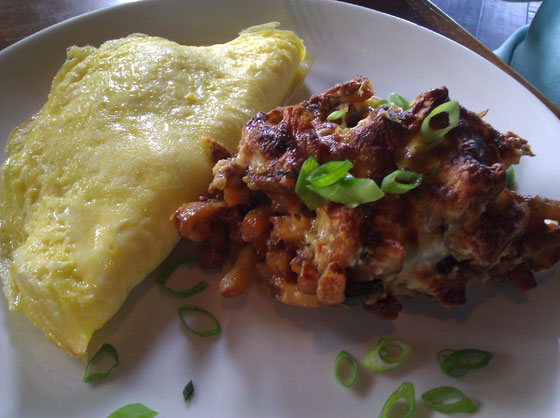 Local Ham & Cheese Omelet with White Trash Hash