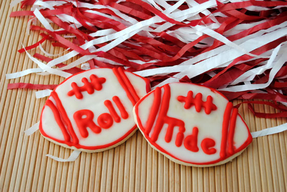 Roll Tide Football Cookies