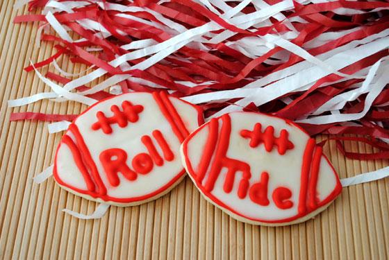 Roll Tide Football Cookies