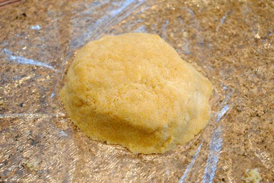 4-inch dough circle