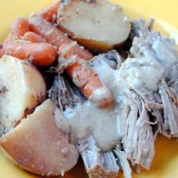 Pot Roast with Sour Cream Horseradish Sauce