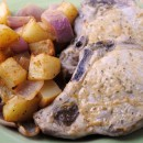 Roasted Rosemary Pork Chops & Potatoes