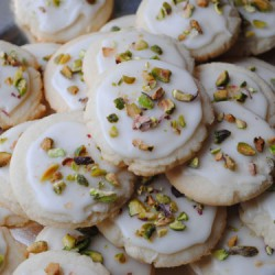 Iced Lemon Pistachio Cookies