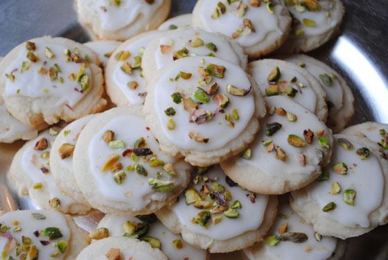 Iced Lemon Pistachio Cookies