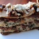 Spinach Lasagna with Mushroom Ragu