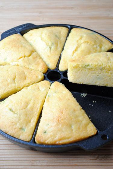 Easy Cheese Cornbread Wedges