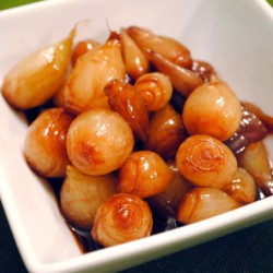 Port-Glazed Pearl Onions