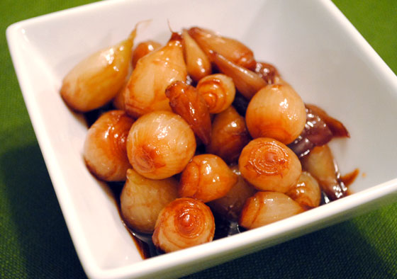 Port-Glazed Pearl Onions