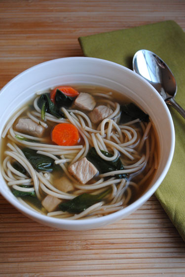 Asian Pork & Noodle Soup