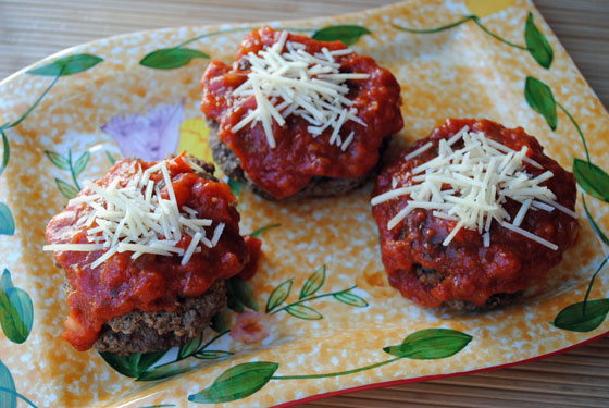 Personal Pizza-Stuffed Meat Loaves