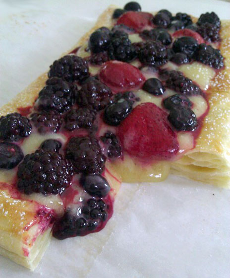 Cut Lemon Berry Tart