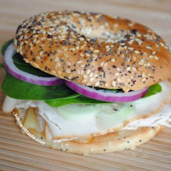 Mediterranean Turkey Bagelwich by So, How's It Taste? www.leah-claire.com