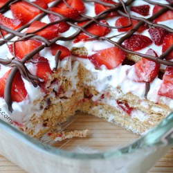 No Bake Strawberry Cake by So How's It Taste