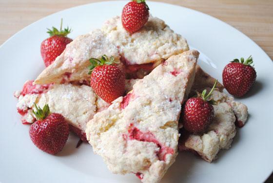 Fresh Strawberry Scones Recipe — Dishmaps