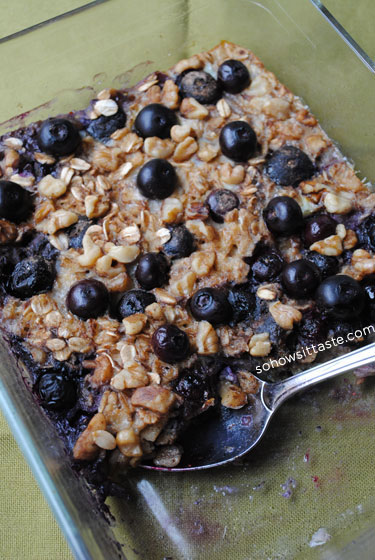 Blueberry Baked Oatmeal by So How's It Taste