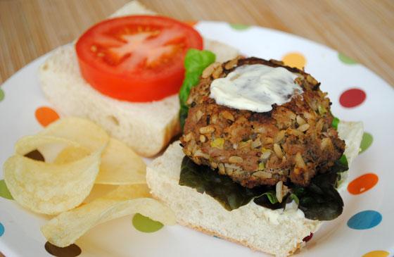 Dijon & Wild Rice Turkey Burgers